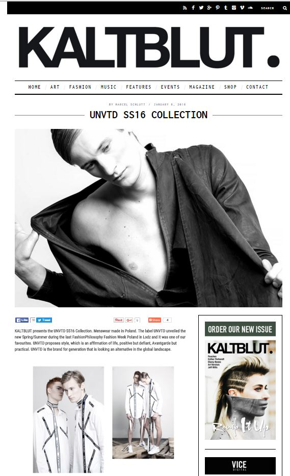 UNVTD SS16 Collection _ KALTBLUT Magazine
