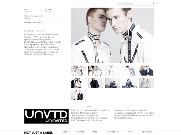 unvtd UNINVITED Designer NOT JUST A LABEL